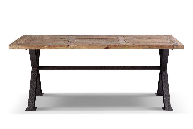 table de salle manger industrielle en mtal et bois rose moore amazon