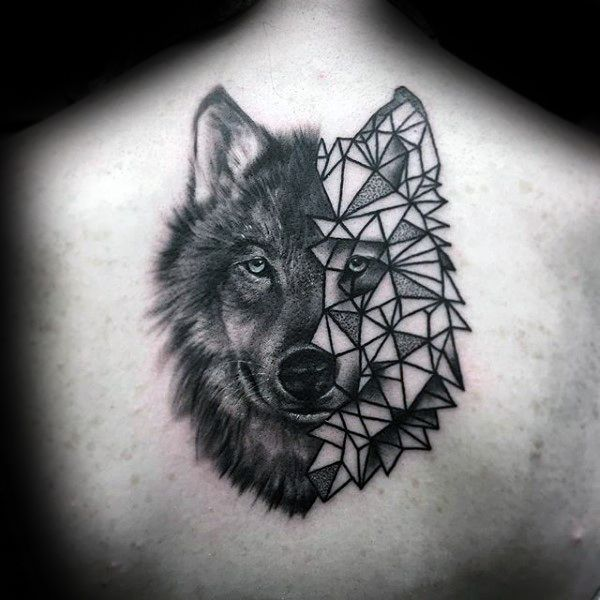 Best 25 Wolf Tattoos Ideas On Pinterest: 90 Geometric Wolf Tattoo Designs For Men