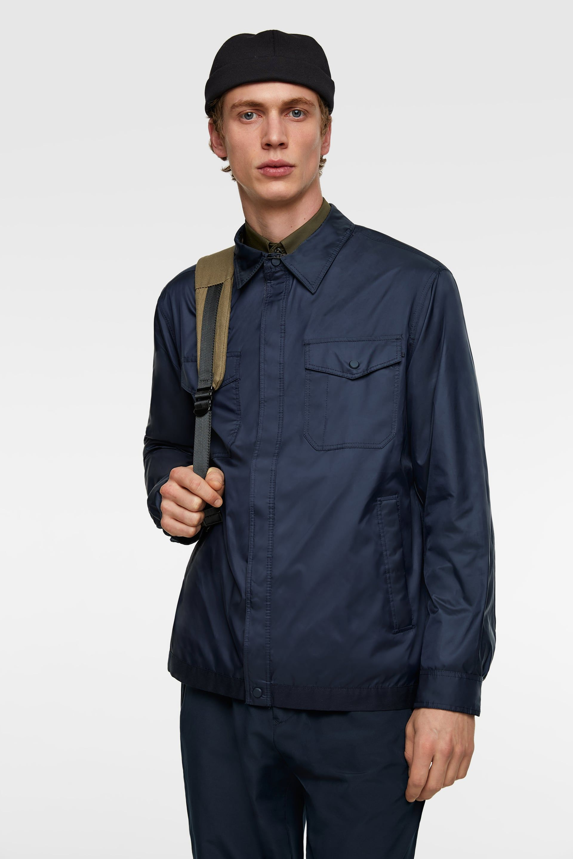 ac32267feb TECHNICAL OVERSHIRT WITH STRIPES from Zara | mens fashion in 2019 ...