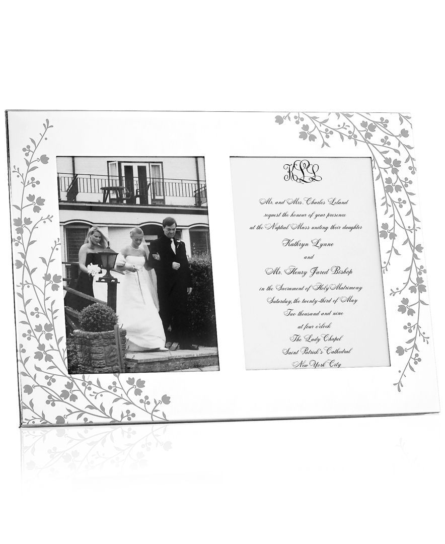 Macy Wedding Gifts: Martha Stewart Collection Picture Frame, Silver Plated