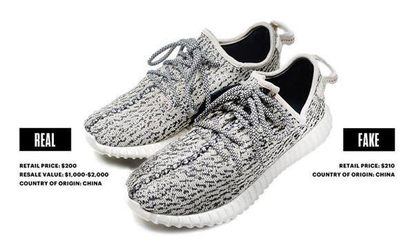 7724b547232c Can You Tell the Difference Between Real   Fake Yeezy Boost 350s ...