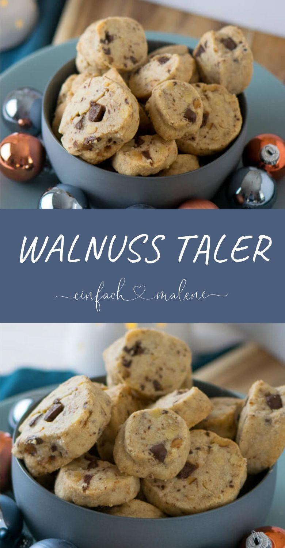 Walnüsse, Schokolade und kleine Salzkristalle machen diese Schokoladen Walnuss ...
