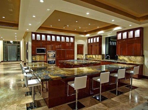 Modern Luxury Italian Kitchen Large Design With Modern False