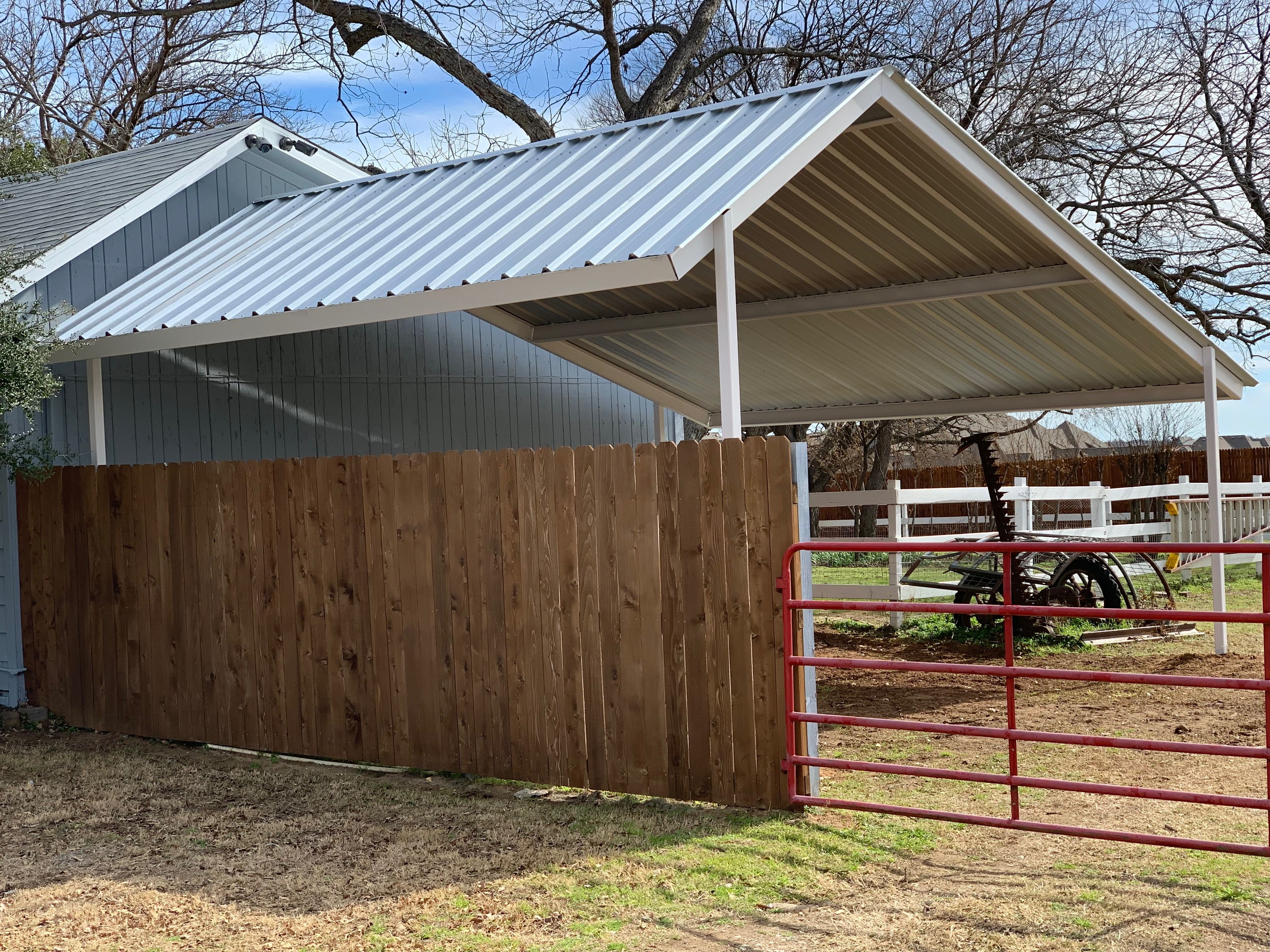 Custom Metal Carport in Southlake Texas! Made to cover a