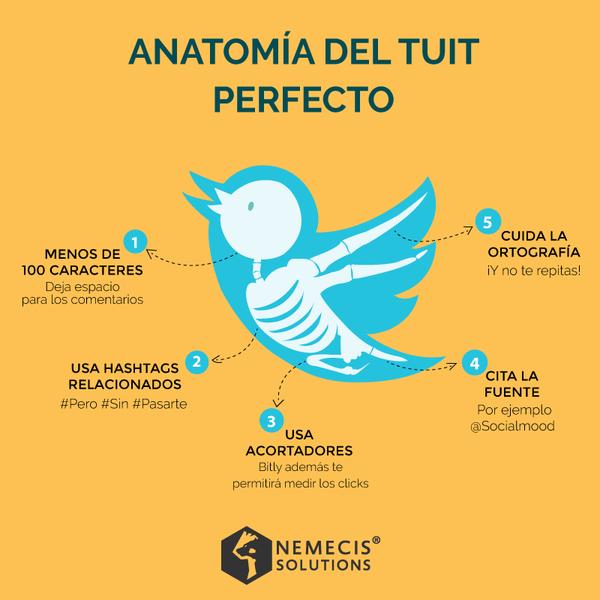 Anatomia de un Tuit perfecto | Twitter | Pinterest