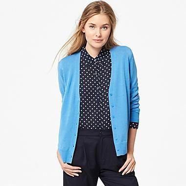 WOMEN EXTRA FINE MERINO V-NECK CARDIGAN | fashion | Pinterest ...