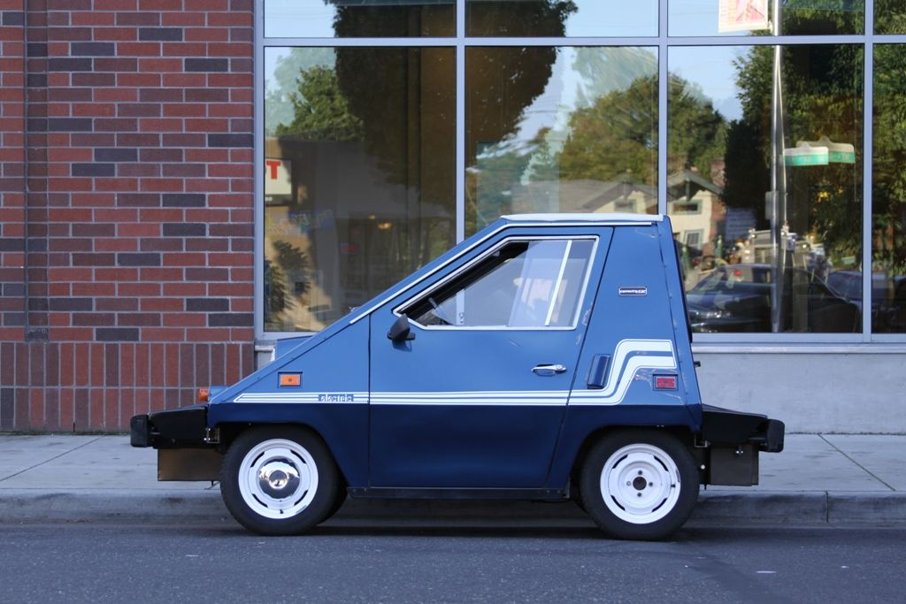 blue 1980 Comuta-Car. One of four electric vehicles made by Sebring ...