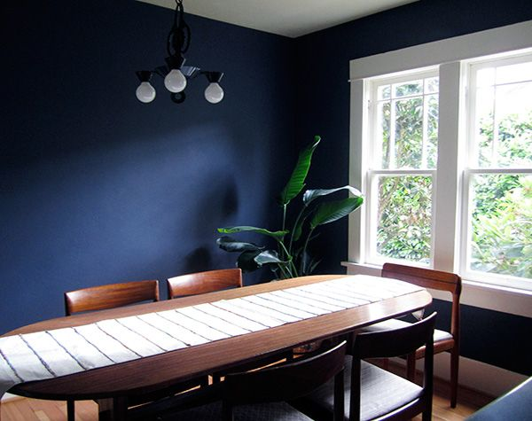 blue stylish dining room design idea Dining Rooms Pinterest