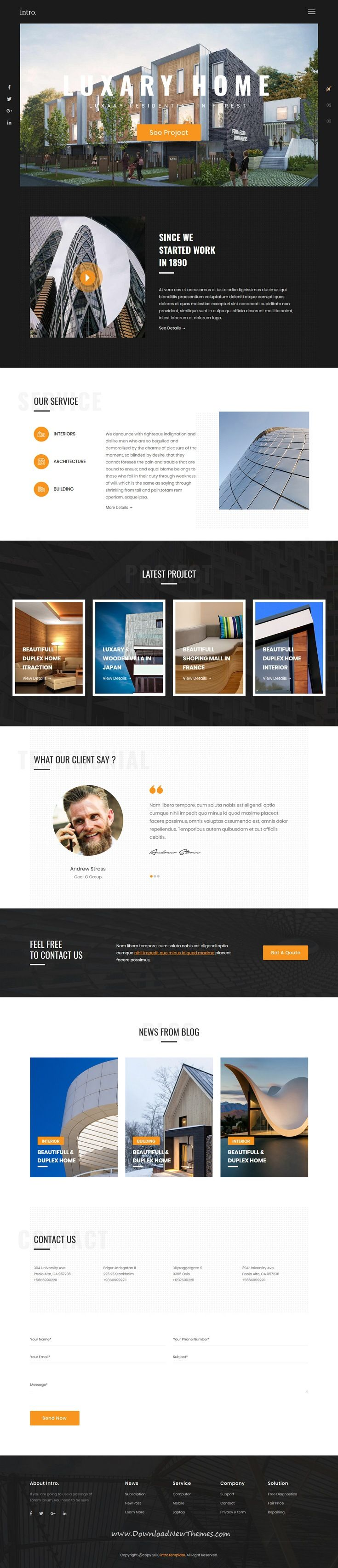 Intro is a clean and modern design 7in1 responsive