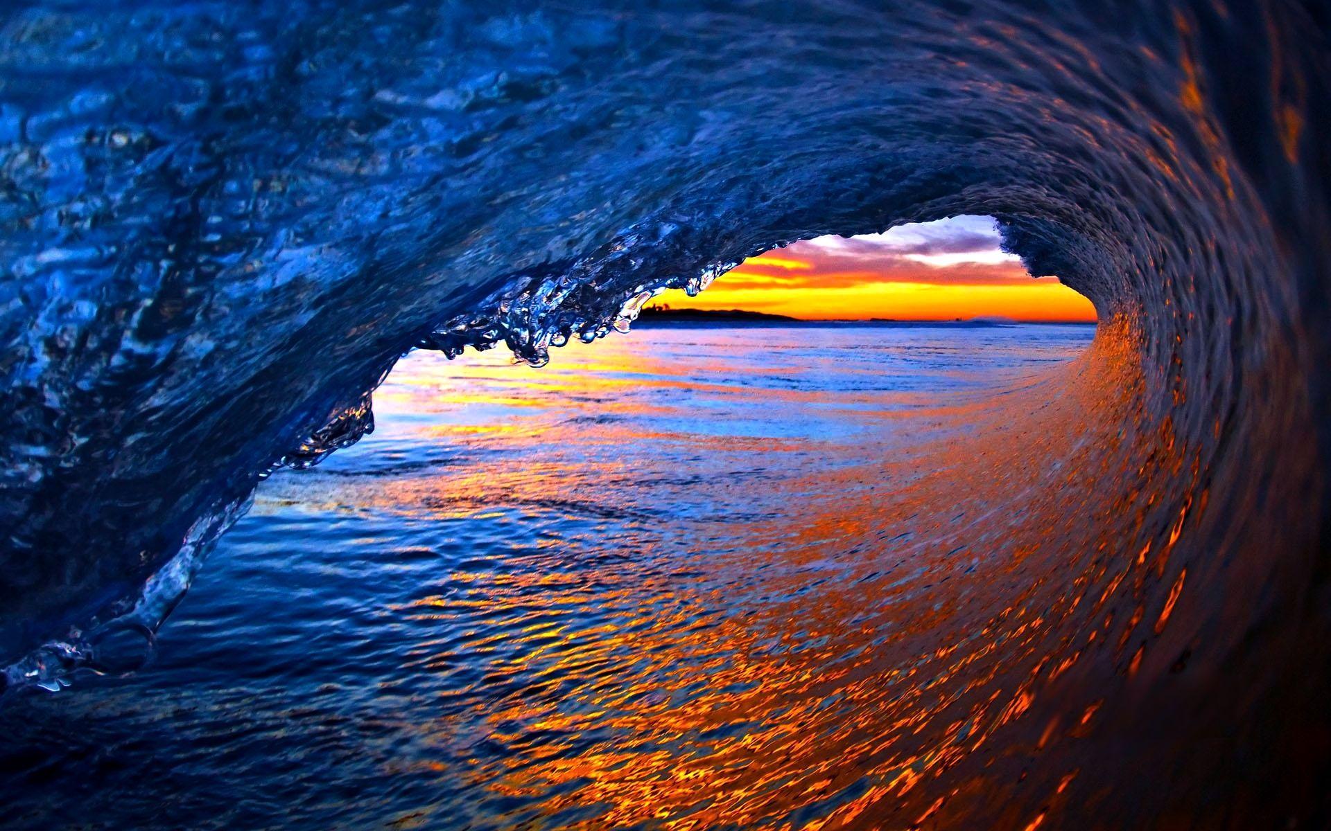 Ocean Waves Wallpaper Wave Curl
