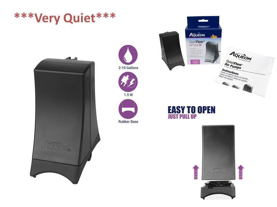 Aqueon Air Pump Aquarium 10 Gallon Rubber Base Pet Supplies Quietflow Fish Tank Aqueon Pet Supplies Air Pump Fish Tank