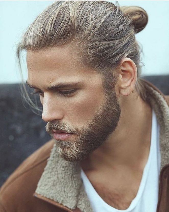 Langhaar Zopf Frisuren Manner In 2020 Lange Haare Manner Glatze Und Bart Frisuren