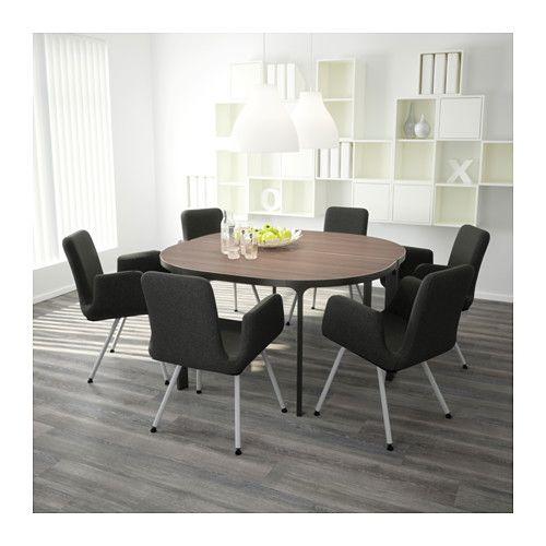 Konferenztisch Ikea bekant konferenztisch birkenfurnier weiß