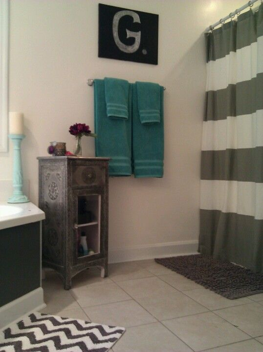 Fun Bathroom Teal Bathroom Decor Gray Bathroom Decor Teal Bathroom
