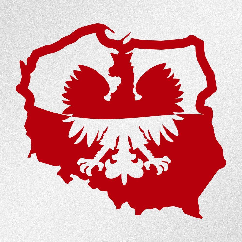 Polish Eagle Map Flag Poland Polska Car Body Window Bumper Vinyl ...