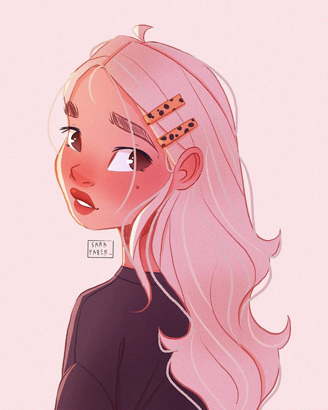 Sara Faber On Instagram Illustration Illustrator Draw Drawing Procreate Myart Ipadpr Cartoon Art Styles Cartoon Girl Drawing Girls Cartoon Art