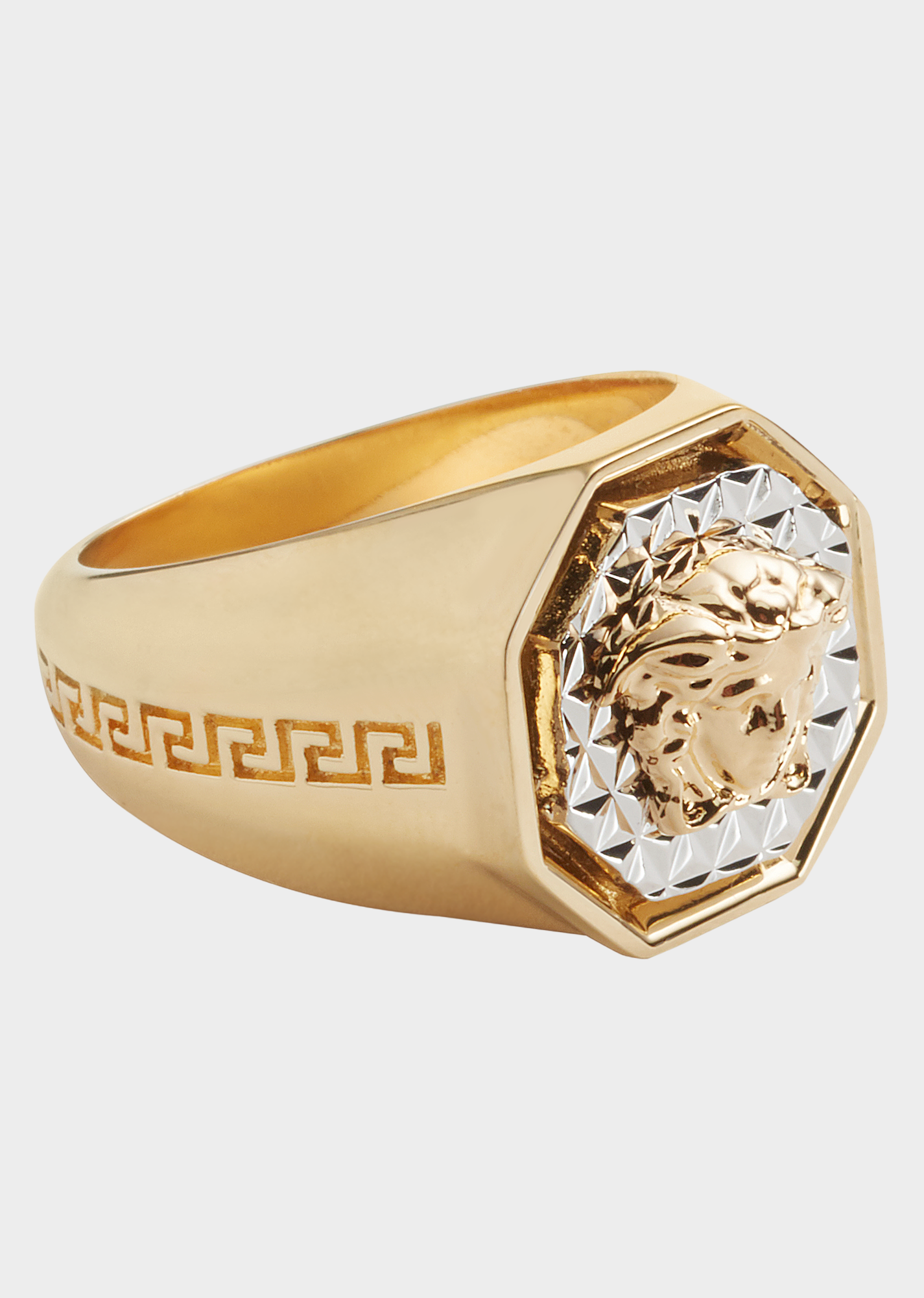 c0c917db95 Medusa Octagon ring - Gold Rings | rings in 2019 | Versace jewelry ...