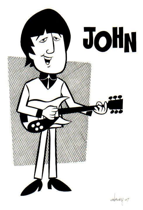 Patrick Owsley Cartoon Art By Patrick Owsley At Coroflot Com Beatles Cartoon Beatles Art The Beatles