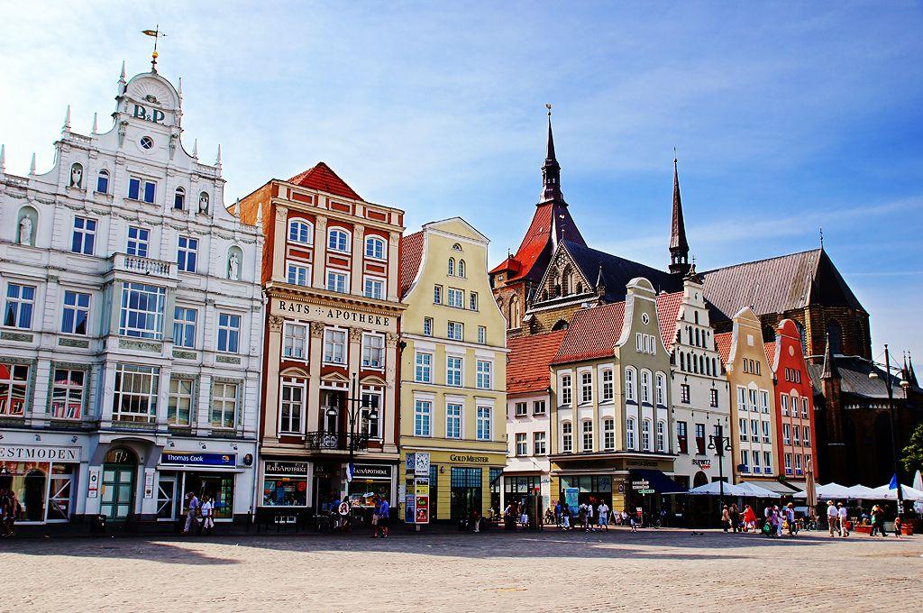 Neuer Markt New Market Square In Rostock Germany The Neuer