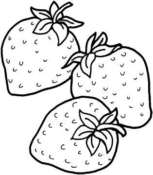Two Strawberries Coloring Page Super Coloring Fruit Coloring