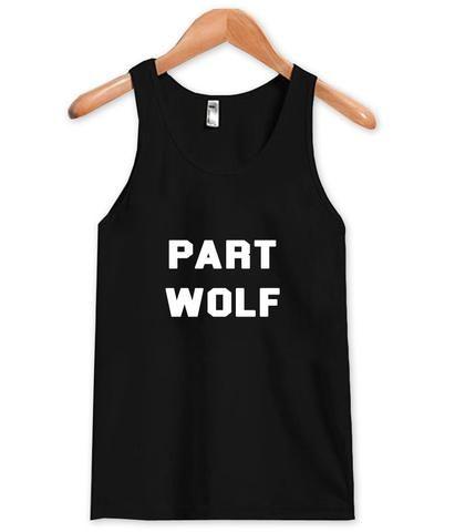 part wolf tanktop #clothing