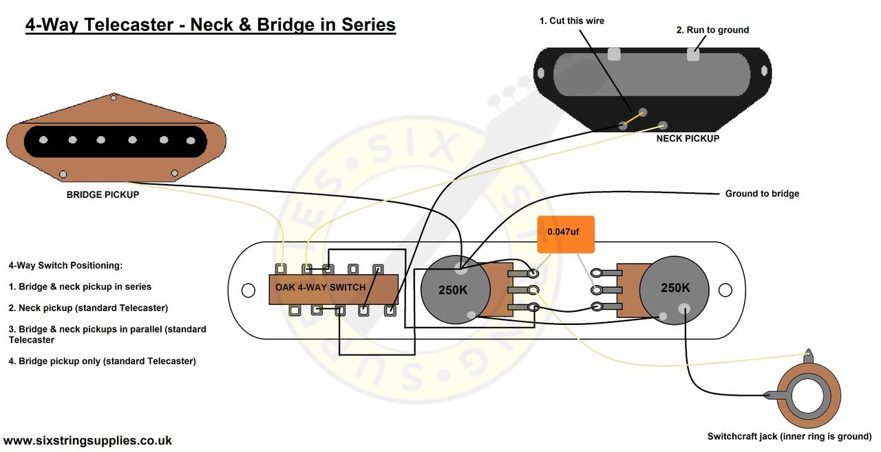 4-Way Telecaster Wiring Diagram