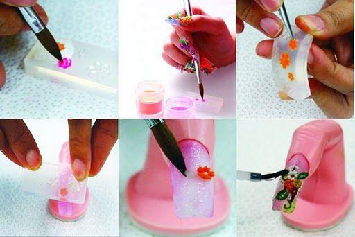 3d Acrylic Nail Art Mold Floral Decoration Pinterest 3d Acrylic