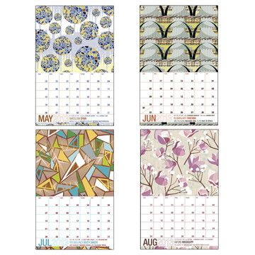 2013 Places Never Been Calendar  by Jhill Design..amazing city-inspired patterns