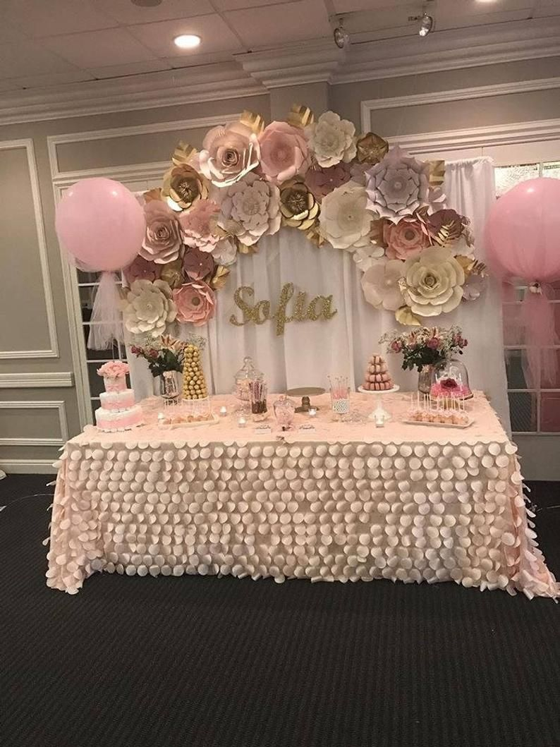 Large Paper Flower Backdrop 5 X 4 Customize Your Order In