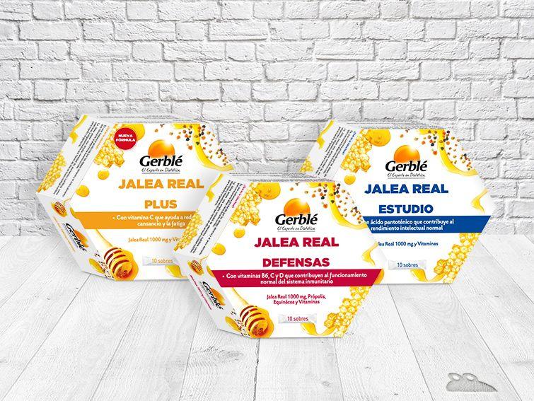 Jalea Real Gerblé #honey #vitamins #packs #design