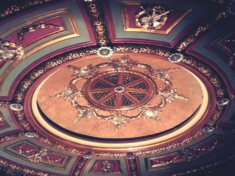 Ceiling detail inside Toronto's Elgin Theatre