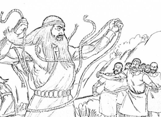joshua judges ruth bible study for kids - Samson Delilah Coloring Pages