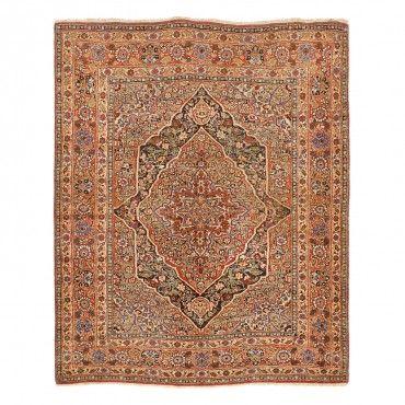 Antique Tabriz Wool Rug 4 X5