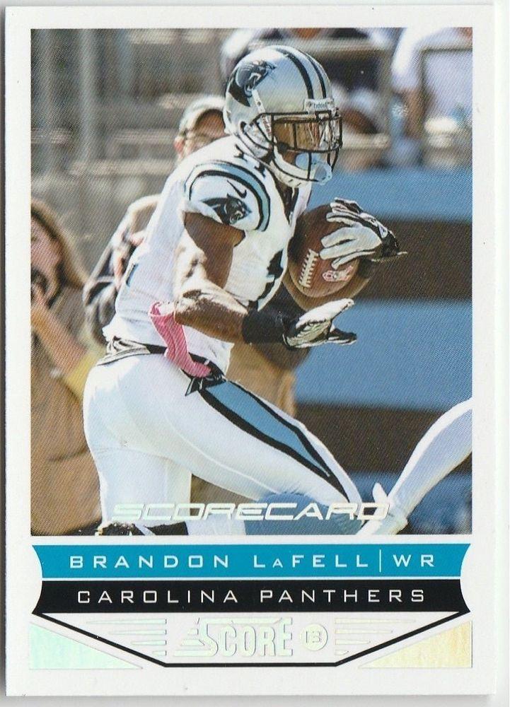 2013 Score Scorecard  Brandon LaFell #29 Carolina Panthers #CarolinaPanthers