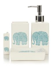 Elephant Bathroom Set | George Home Elephants Bathroom Accessories Accessories Wish List