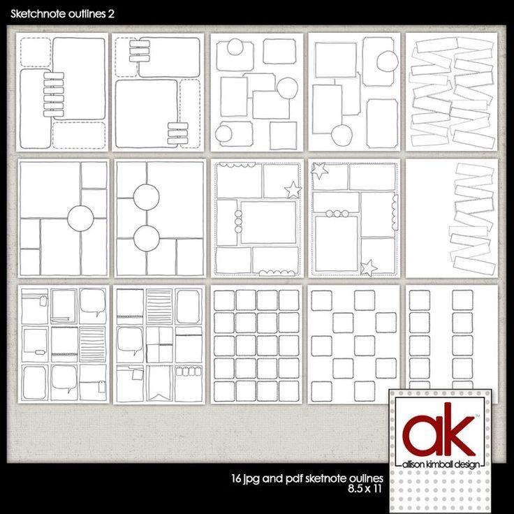 Allison Kimball - Sketchnote Journal blank template page - pdf ...