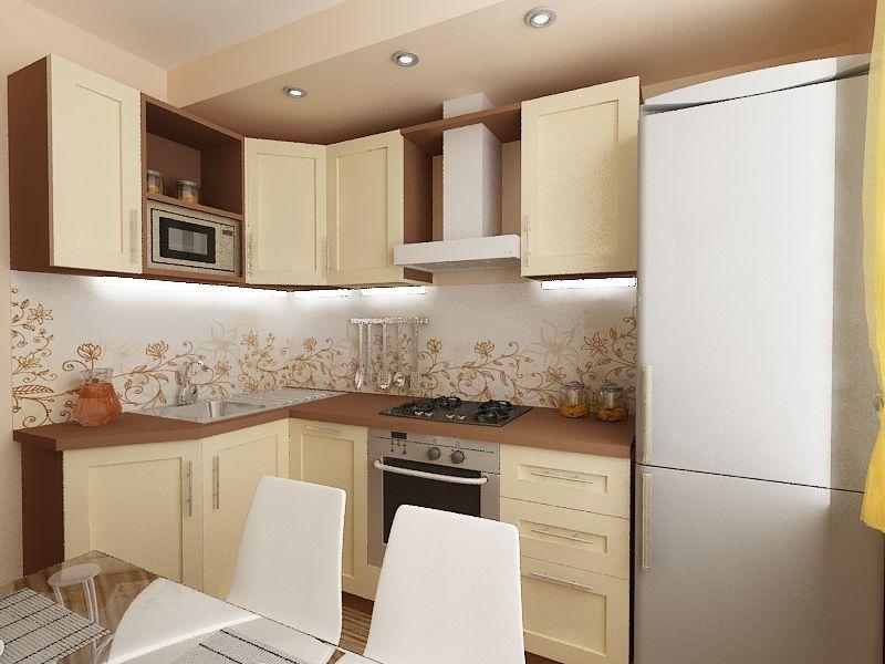 кухня 6 м кв дизайн фото