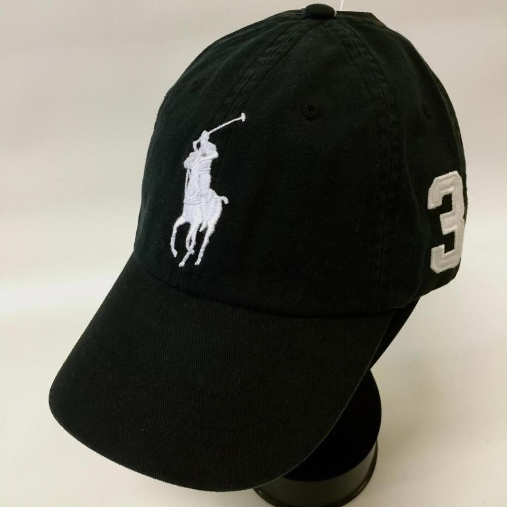 Polo Ralph Lauren 1967 MCMLXVII  3 Big Pony BASEBALL Cap BLACK-GOLF CAP~1  SIZE  POLORALPHLAUREN  BASEBALLGOLFCAP c553a867c7fb