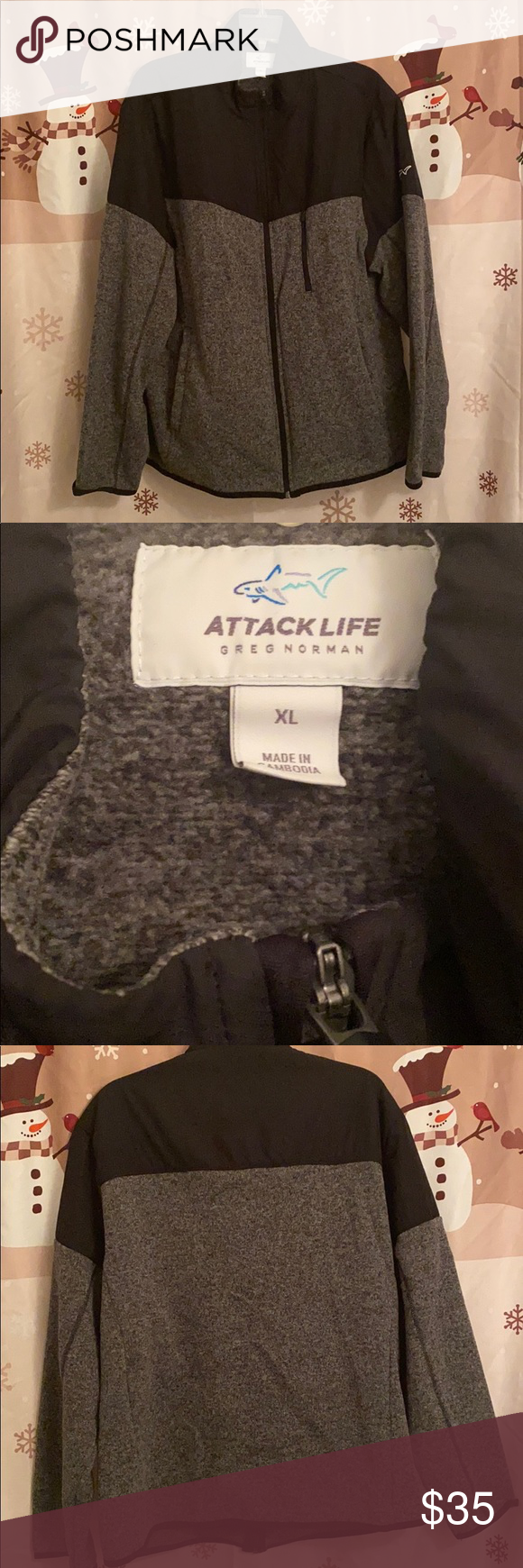 Attack Life Greg Norman Collection Zip Up Fleece Only Worn Twice Excellent Condition Greg Norman Collection Jackets Coats Perfor Greg Norman Zip Ups Norman