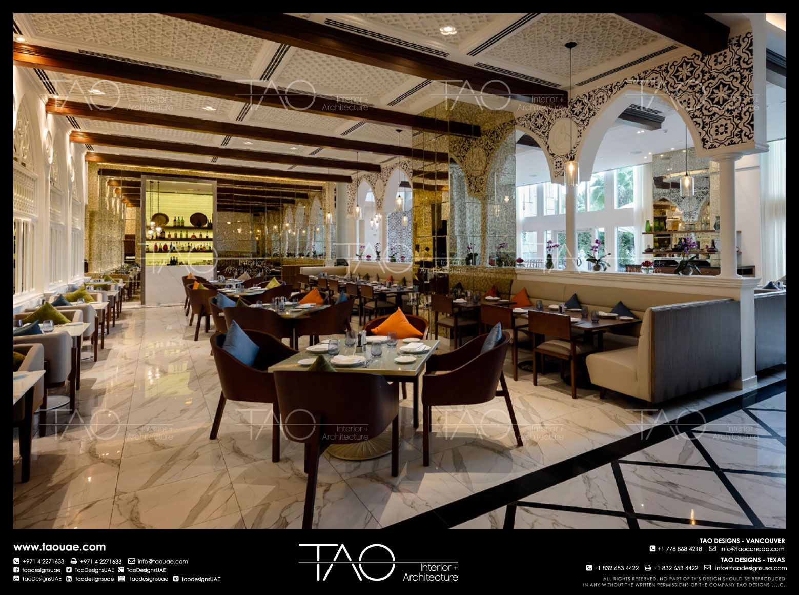 Al Yamna Lebanese Restaurant Interior In Atlantis Dubai By Tao