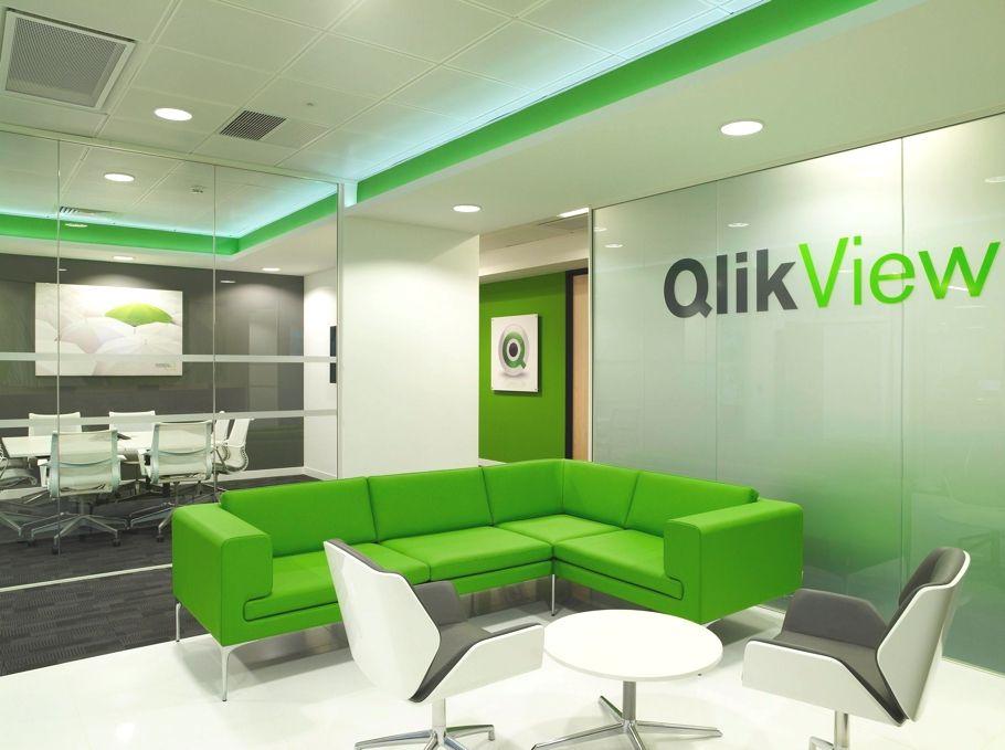 Contemporary Office Design QlikTech England  Showroom