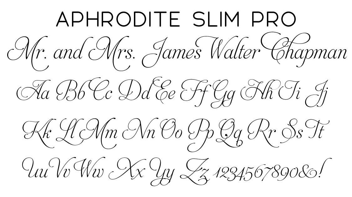 Aphrodite Slim Pro Script Font