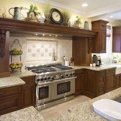 MediterraneanStyle Kitchens KitchenWow Pinterest Google - Over kitchen cabinet decor
