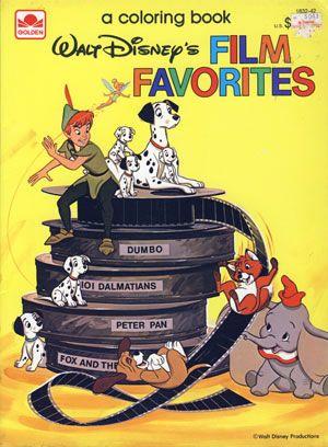 Disney Film Favorites Coloring Book Golden Books 1983 Disney