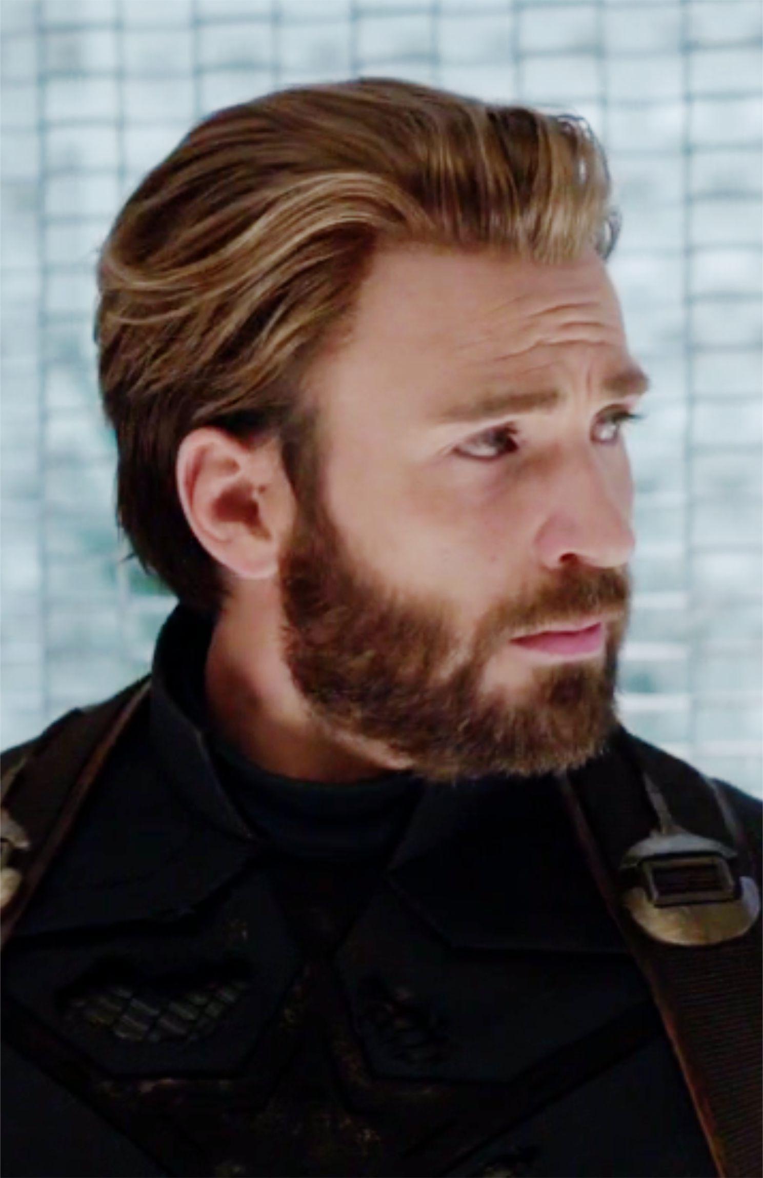 Captain America - Infinity War  Chris evans haircut, Chris evans
