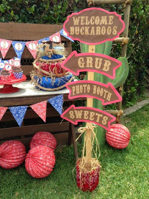 Cowboy Bbq Party Decorations See More Party Ideas At