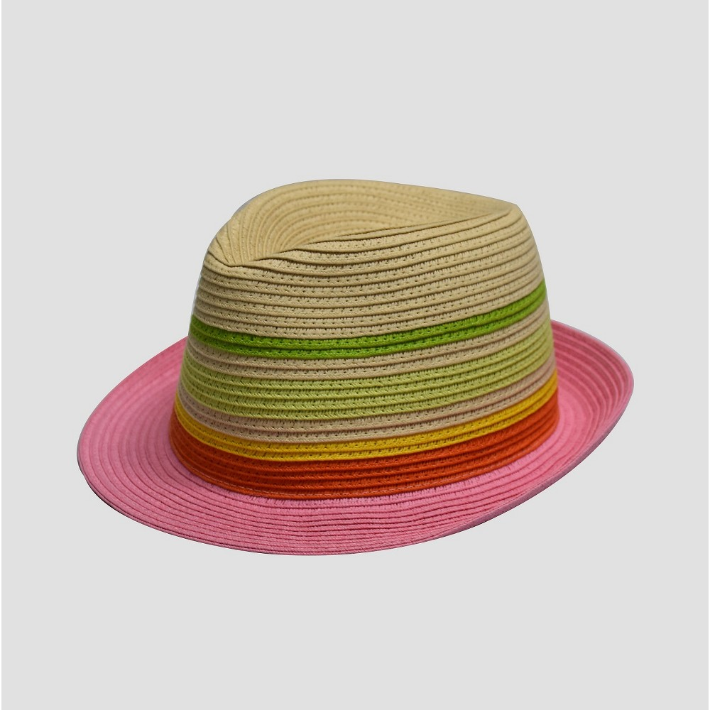 91ce93369 Girls' Striped Fedora Hat - Cat & Jack One Size, Multi-Colored ...