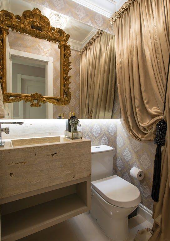 Lavabos com cortinas – veja decorações clássicas e luxuosas com ...