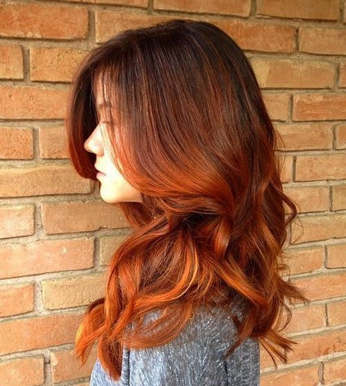 dark-brown-to-red-ombre-hair-color   Hair   Pinterest   Red ombre ...