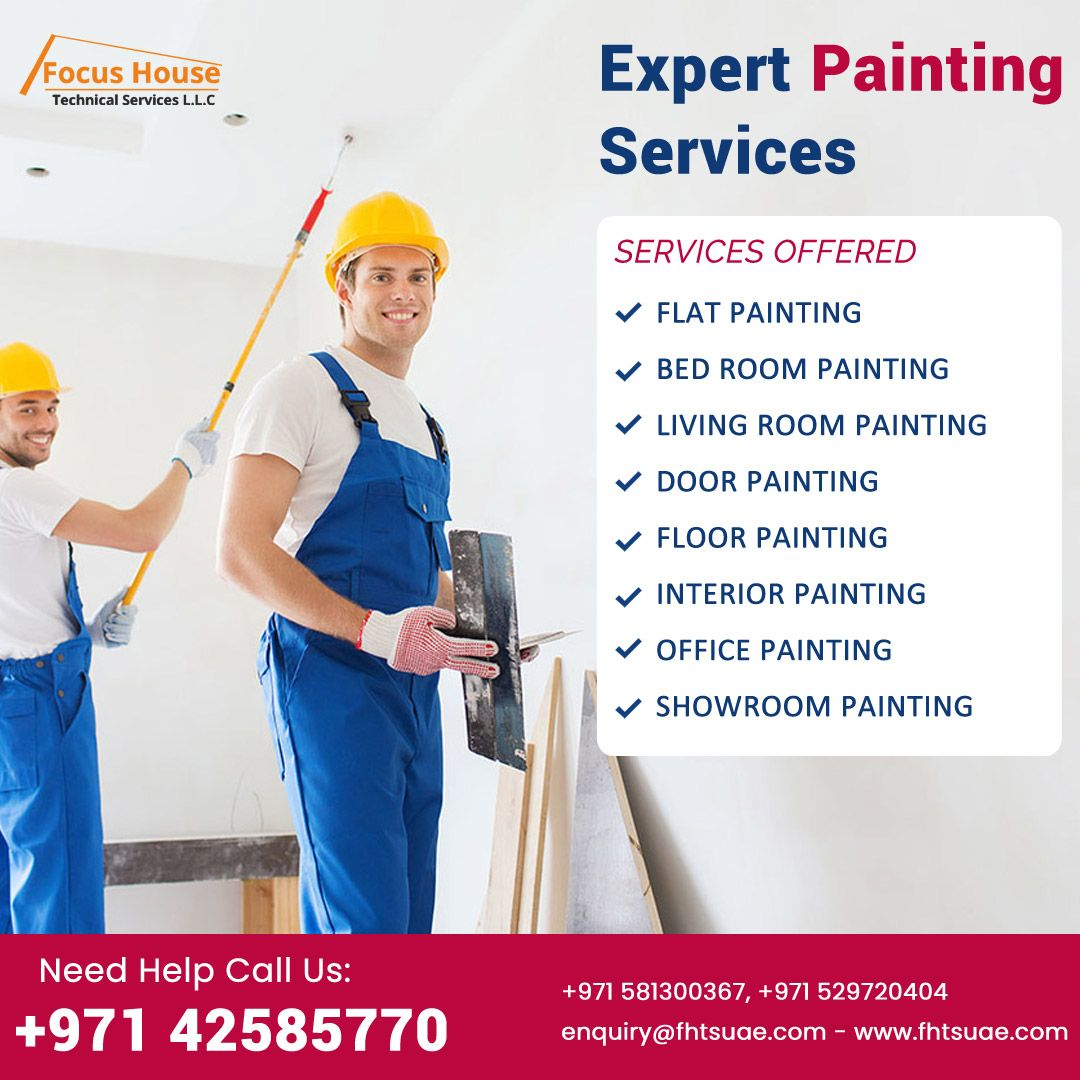 Painting Services In Dubai Painting Services Painted Floors Painting Contractors